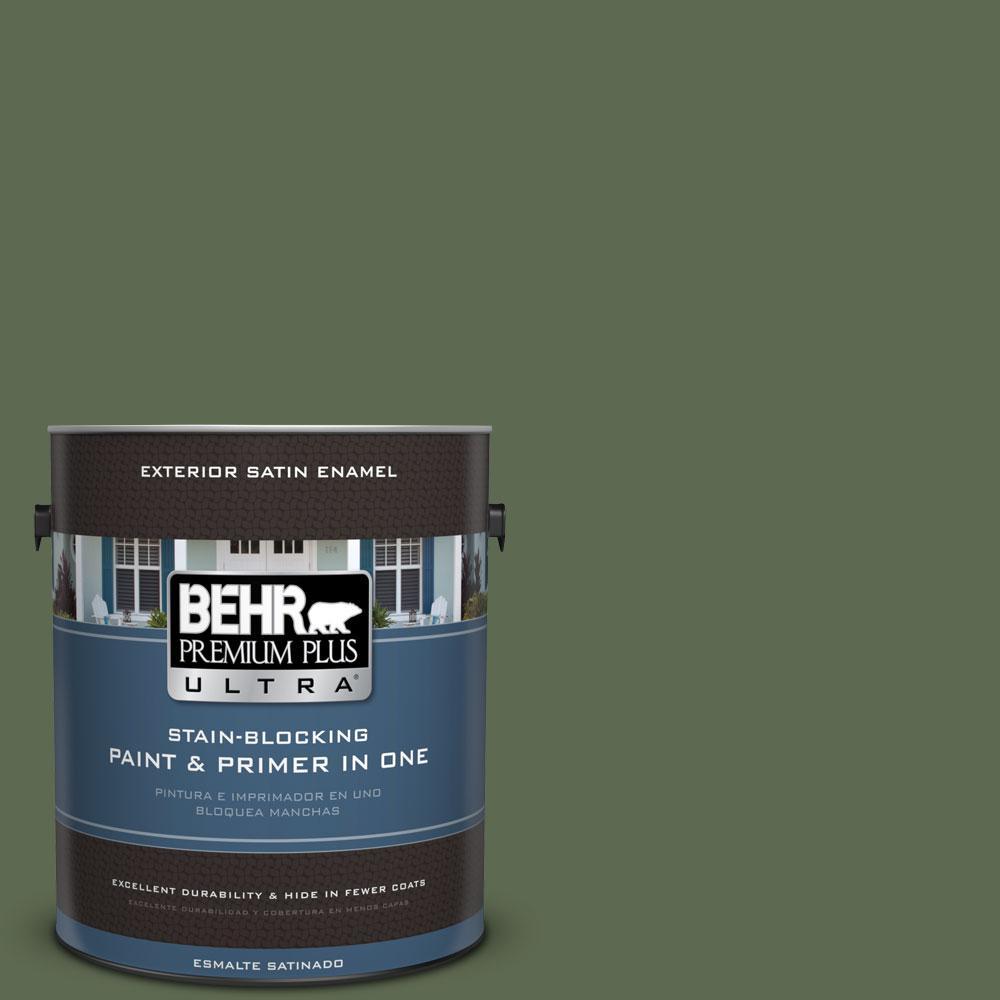 BEHR Premium Plus Ultra 1-gal. #430F-6 Inland Satin Enamel Exterior Paint