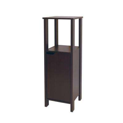 Ambassador 14-3/25 in. W x 39-3/10 in. H x 14-3/25 in. D Bathroom Linen Storage Floor Bath Cabinet in Espresso