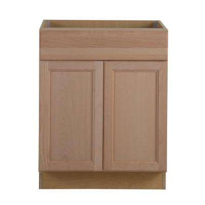 Assembled 27x24.5x34.5 in. Easthaven Base Cabinet with drawer in Unfinished German Beech