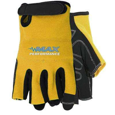 Yellow Max Performance Finger-Less Glove