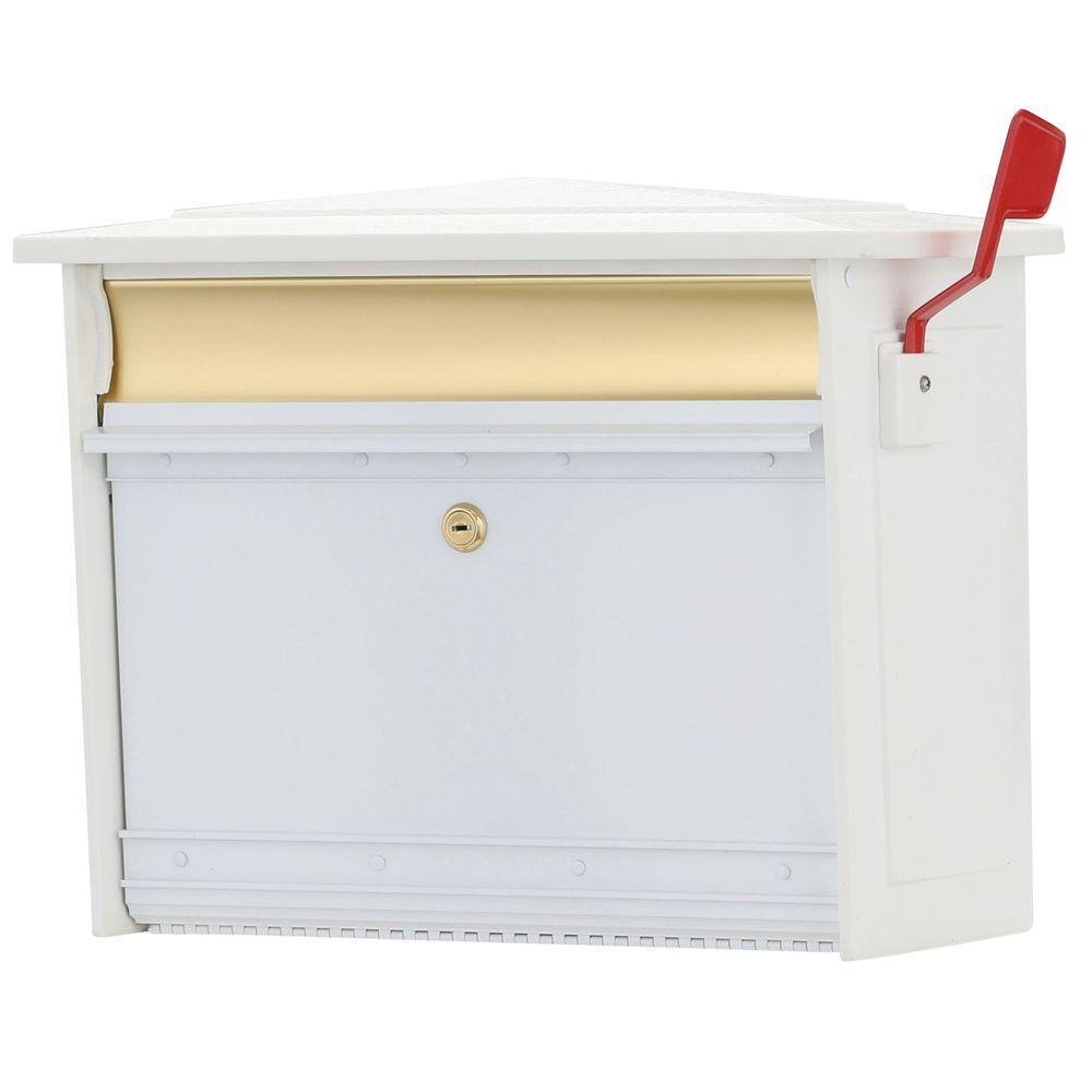 Mailsafe White Wall-Mount Locking Mailbox