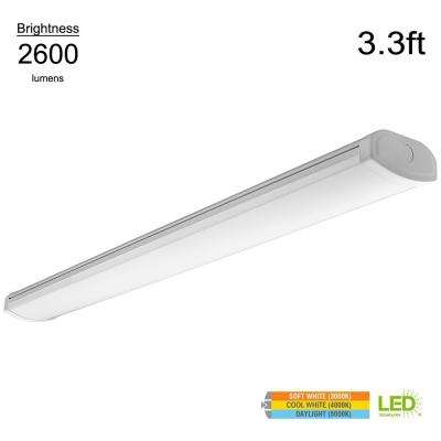 Low Profile 3.3 ft. White Integrated LED Wrap Light with Color Temperature Changing Feature (Dimmable)