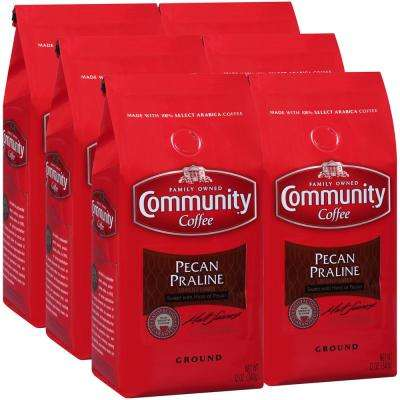 12 oz. Pecan Praline Medium Roast Premium Ground Coffee (6-Pack)