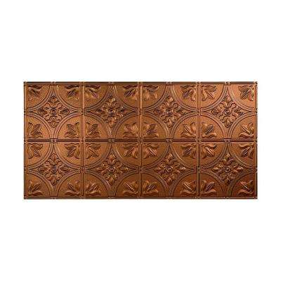 Traditional 2 - 2 ft. x 4 ft. Glue-up Ceiling Tile in Oil Rubbed Bronze
