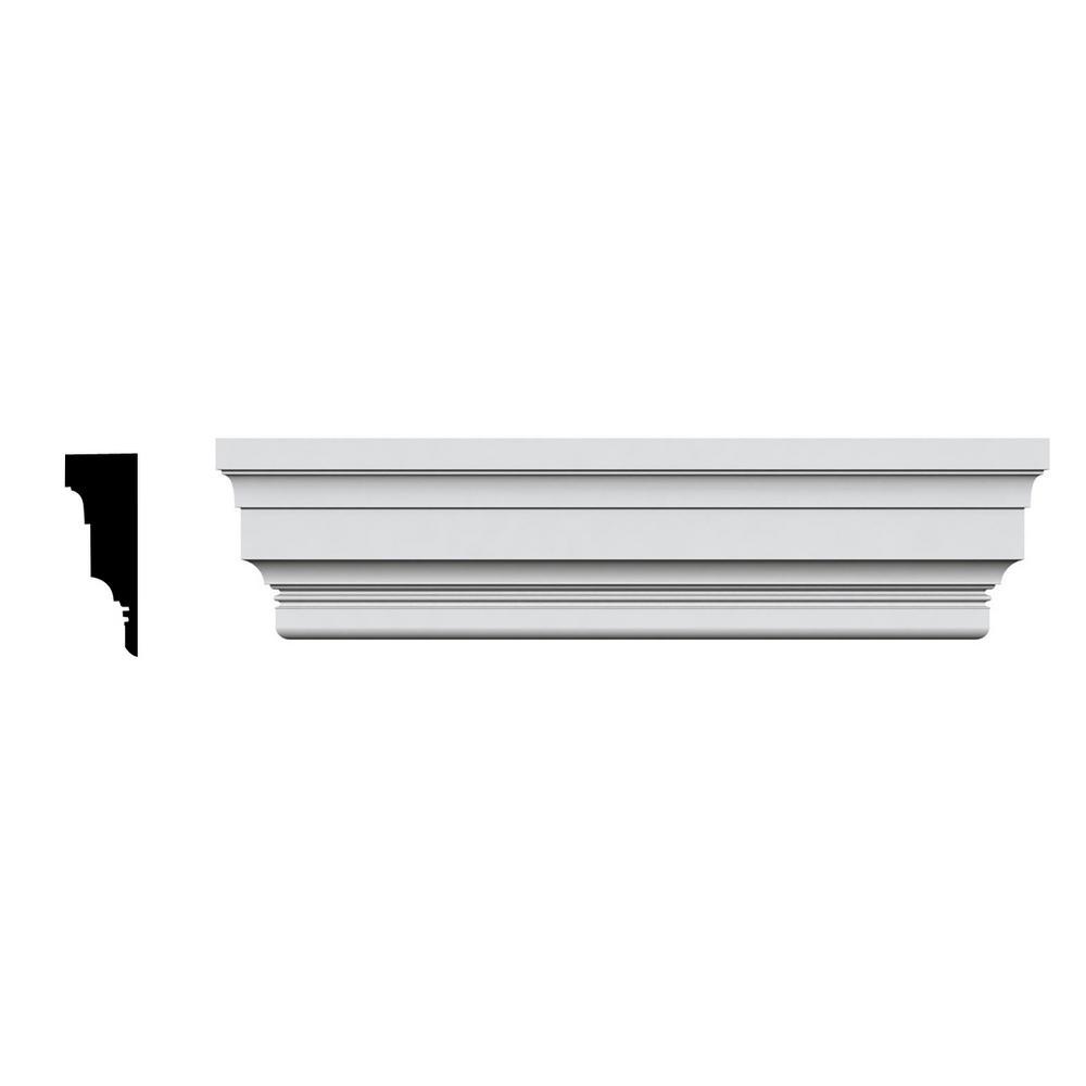 Ekena Millwork 5/8 in. x 84 in. x 11-7/8 in. Polyurethane Standard Crosshead Moulding
