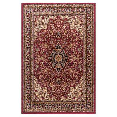 Jewel Heriz Red 8 ft. x 10 ft. Area Rug