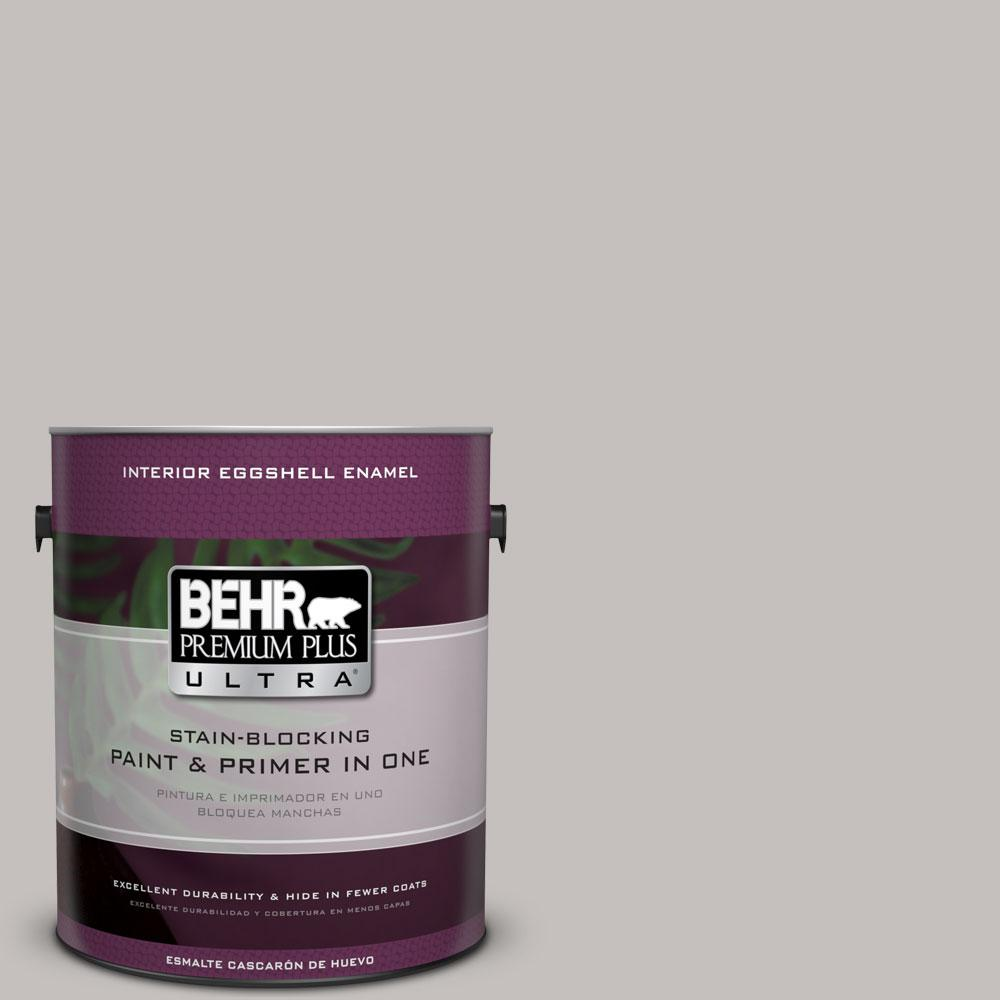 1 gal. #PPU18-10 Natural Gray Eggshell Enamel Interior Paint and Primer