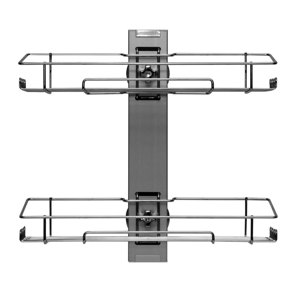 15 in. x 15.75 in. 2-Tier Mounted Shower Shelf