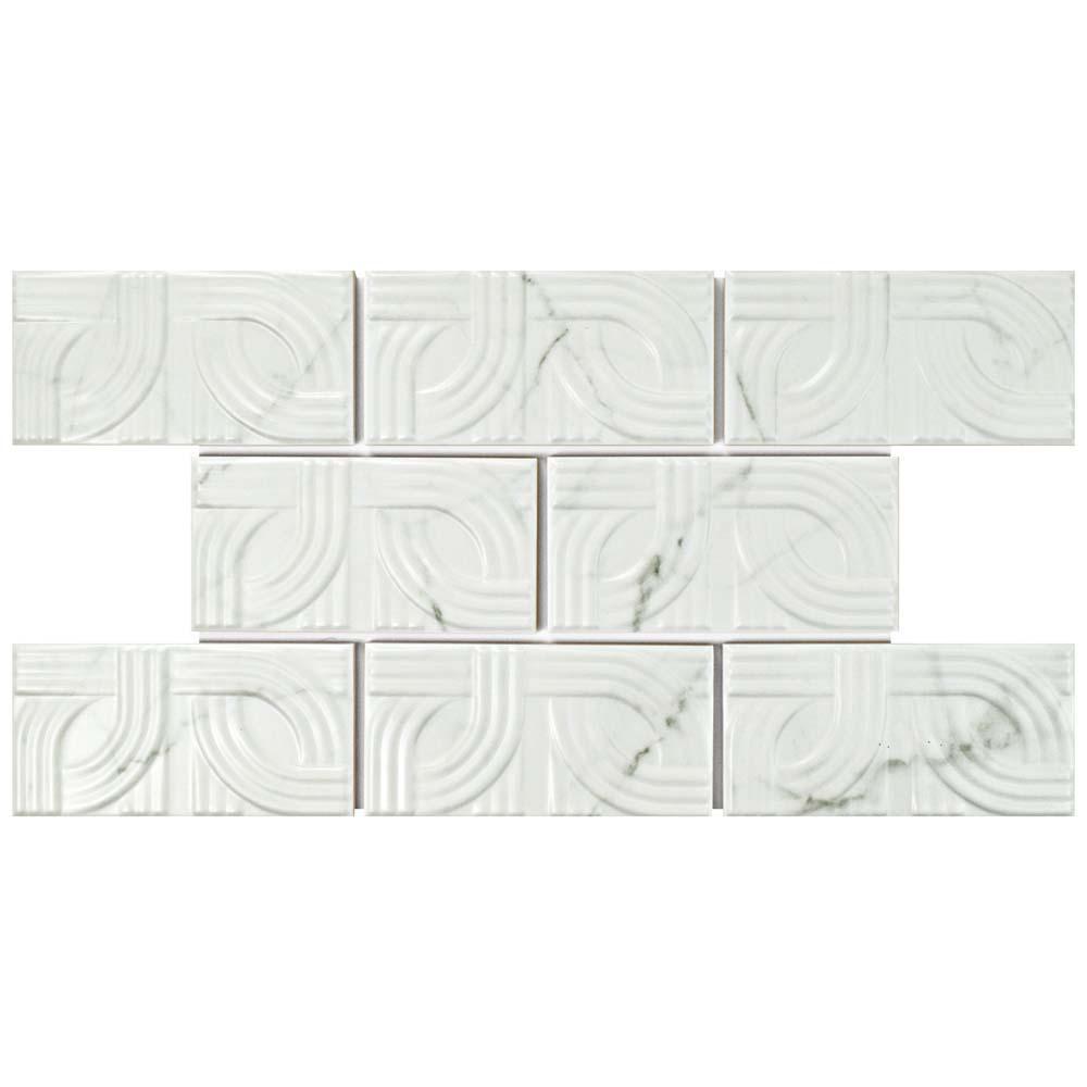 Merola tile antic craquelle white 3 in x 6 in ceramic wall tile classico carrara matte metropolis 3 in x 6 in ceramic wall dailygadgetfo Choice Image