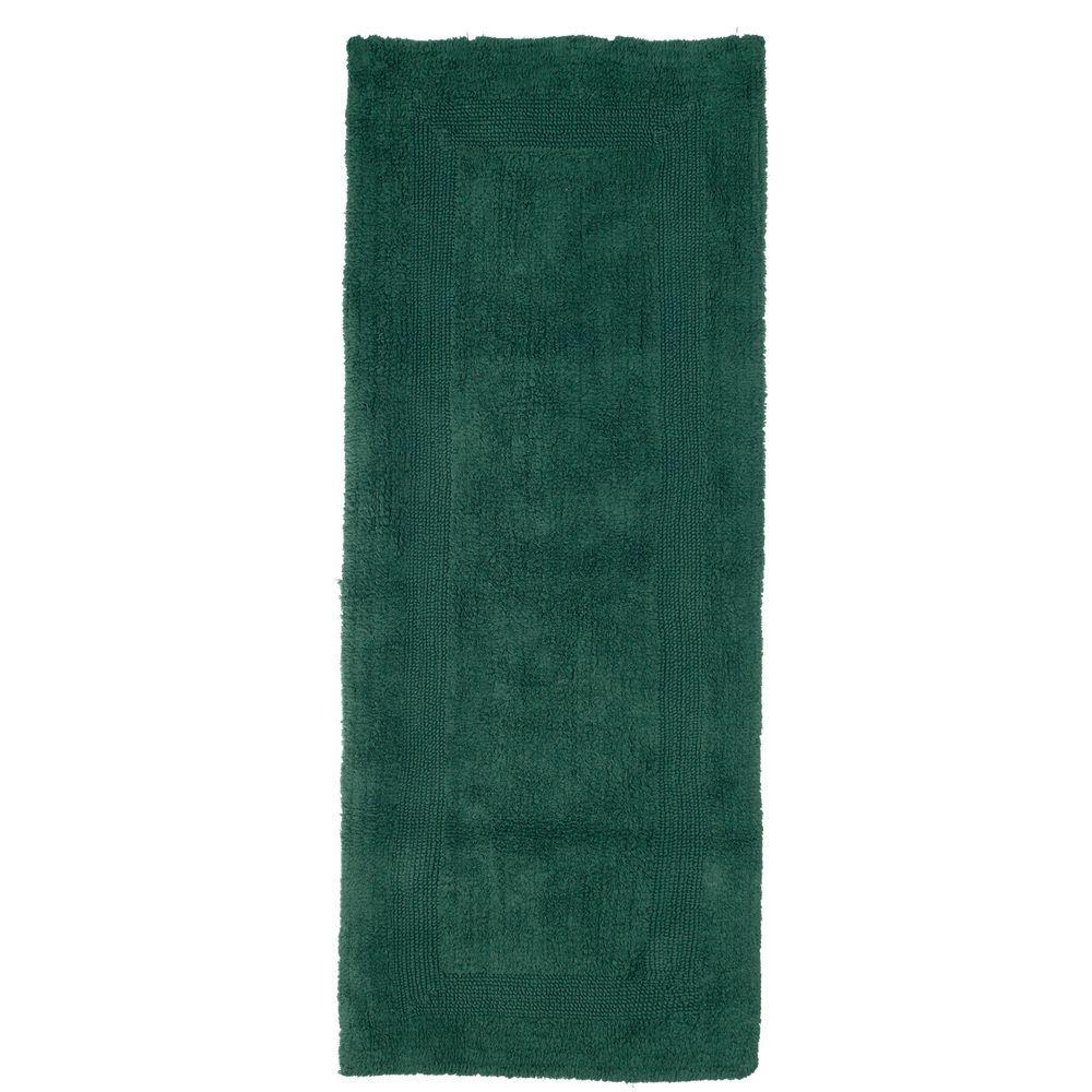 Bath Rug Runner 2 X 5 Ft Extra Long Green Bathroom Mat