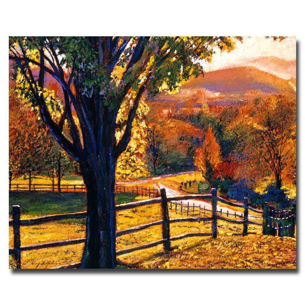26 in. x 32 in. Autumn Fire Colors Canvas Art