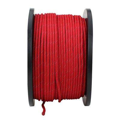 1/8 in x 500 ft. Reflective Paracord, Red