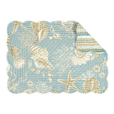 Natural Shells Blue Placemat (Set of 6)