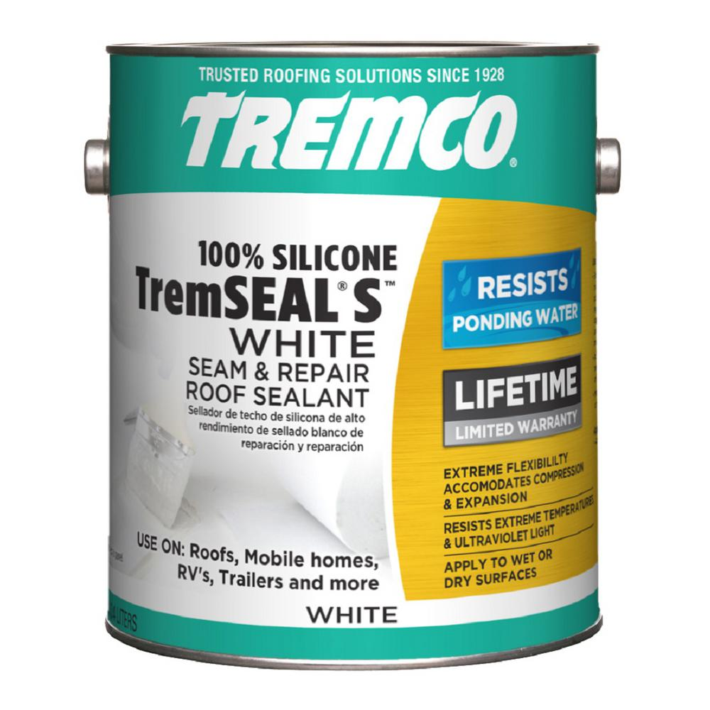 Tremco 0 9 Gal Tremseal S White Roof Sealer 350572 The