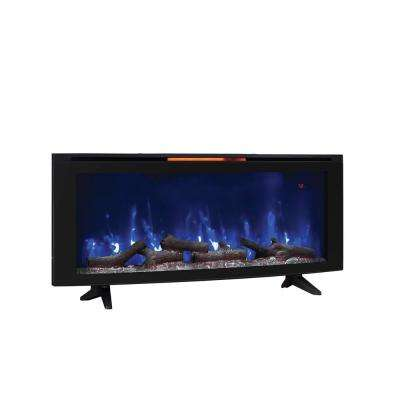 Luminosity 48 in. Wall-Mount Electric Fireplace in Black