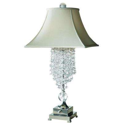 33 in. Silver Plated Table Lamp