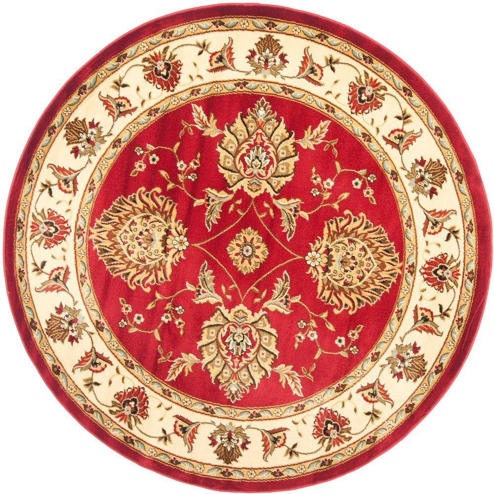 West Elm Round Rug Amazing Area Rug Best Round Area Rugs: Safavieh Lyndhurst Red/Ivory 5 Ft. 3 In. X 5 Ft. 3 In