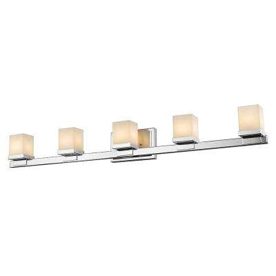 5-Light Chrome LED Bath Light