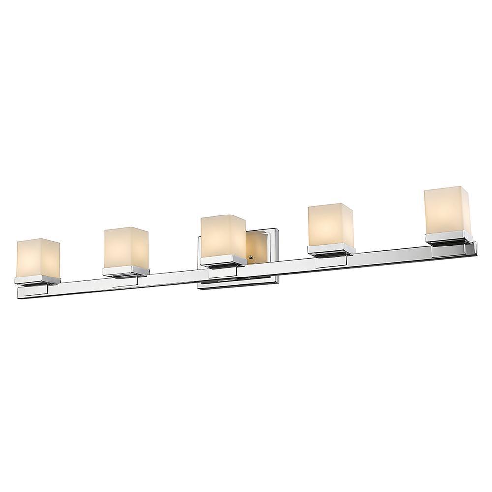 5-Light Chrome LED Bath Light