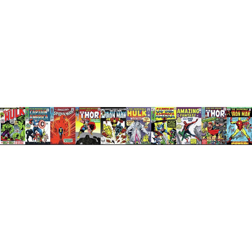 York Wallcoverings Disney Kids III Marvel Comic Book Covers Border-DY0274BD