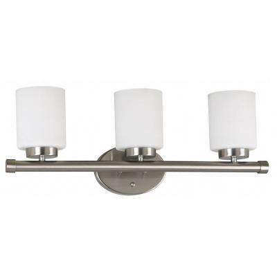 Mezzanine 3-Light Brushed Steel Vanity Light