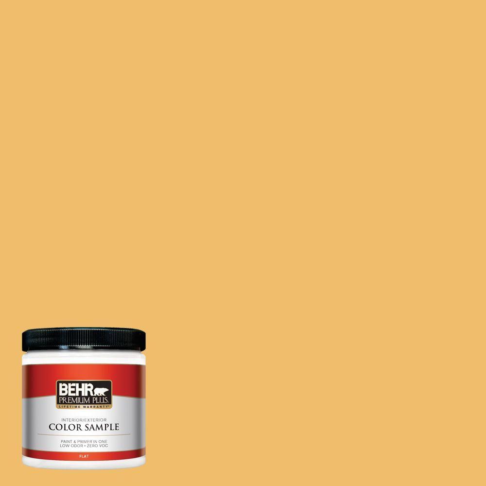 BEHR Premium Plus Home Decorators Collection 8 oz. #HDC-MD-24 Luscious Lemon Zero VOC Interior/Exterior Paint Sample