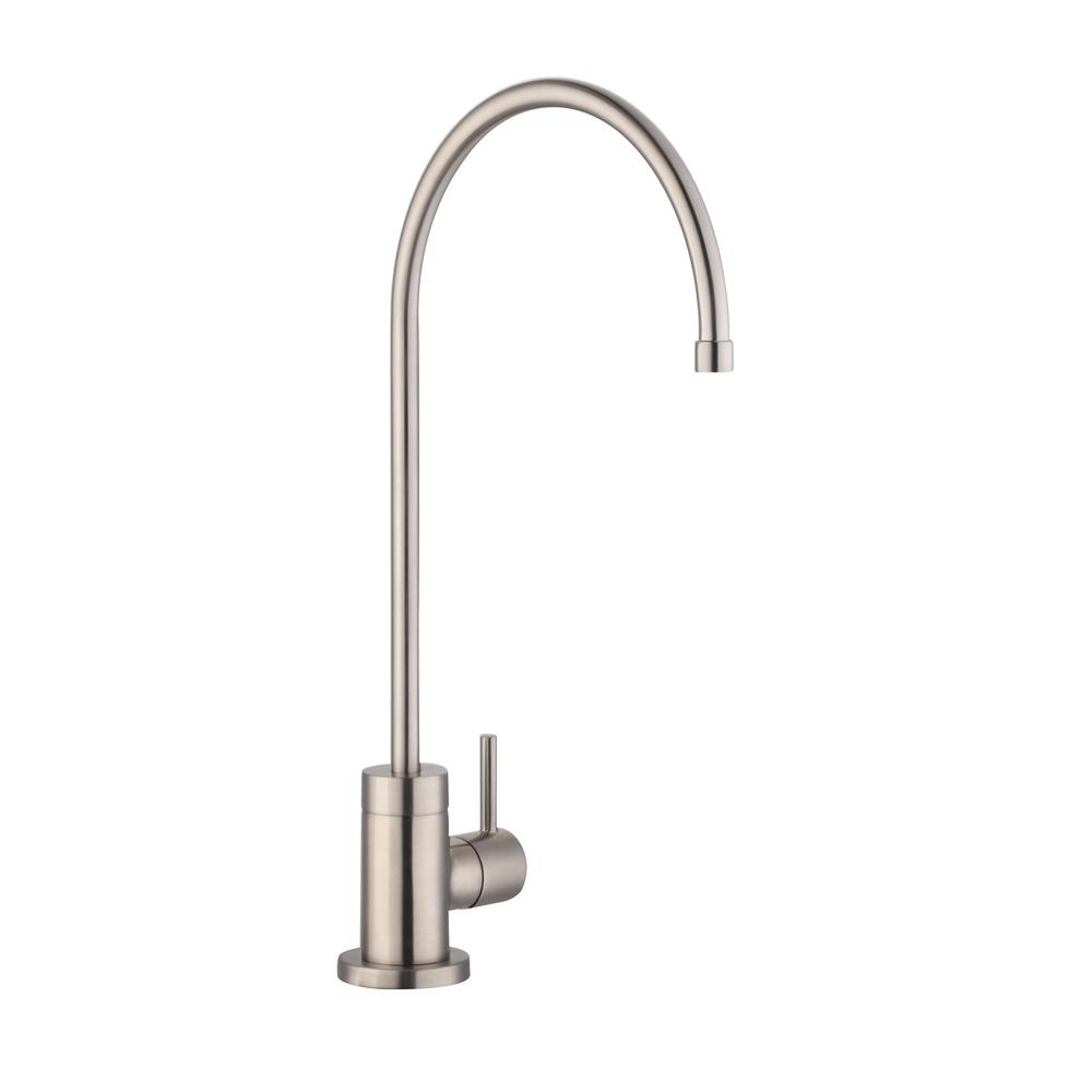 Glacier Bay Modern Single Handle Water Filtration Faucet In Stainless Steel
