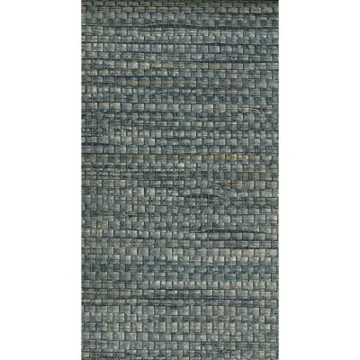72 sq. ft. Cotabato Blue Grass Cloth Wallpaper