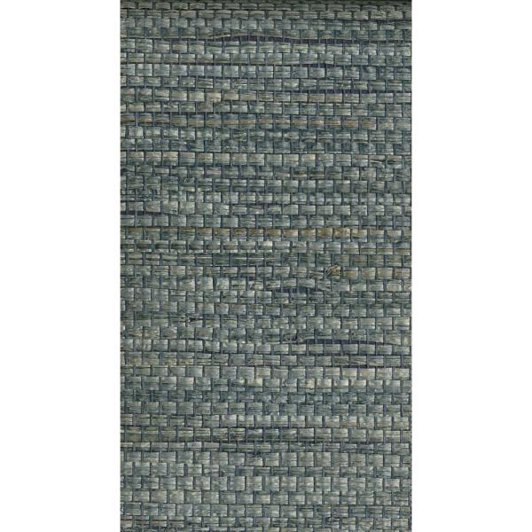 Kenneth James 72 sq. ft. Cotabato Blue Grass Cloth Wallpaper