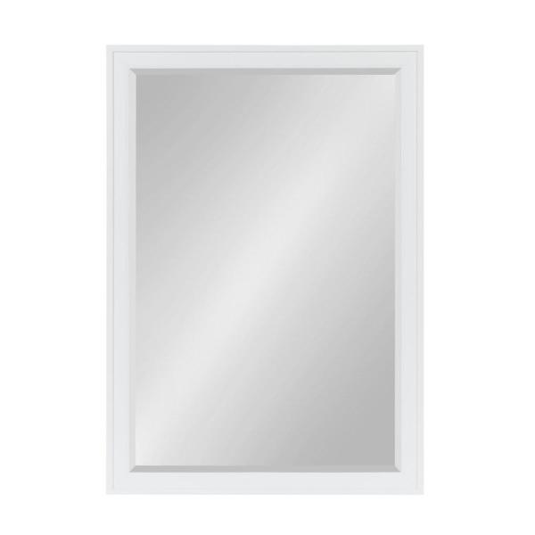 DesignOvation Bosc Rectangle White Mirror