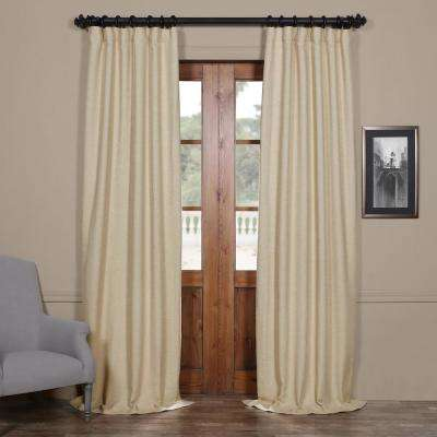 Semi-Opaque Candlelight Beige Bellino Blackout Curtain - 50 in. W x 84 in. L (Panel)