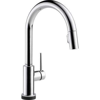 Trinsic Single-Handle Pull-Down Sprayer Kitchen Faucet Featuring Touch2O Technology in Chrome