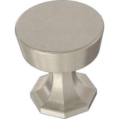 Classic Octagon 1-1/4 in. (32 mm) Satin Nickel Cabinet Knob