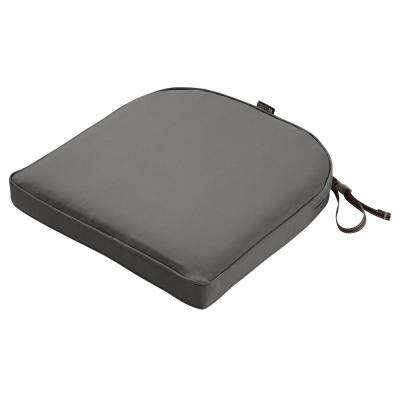 Montlake Light Charcoal Grey 20 in. W x 20 in. D x 2 in. Thick Rounded Back Square Outdoor Seat Cushion