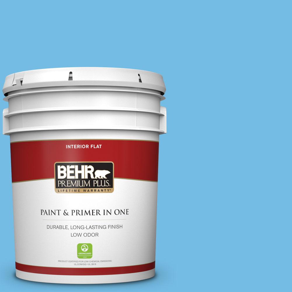 Reviews For Behr Premium Plus 5 Gal 550b 4 Costa Rica Blue Flat Low Odor Interior Paint And Primer In One 140005 The Home Depot
