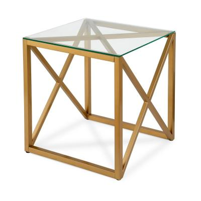 Dixon 22 in. Brass Side Table