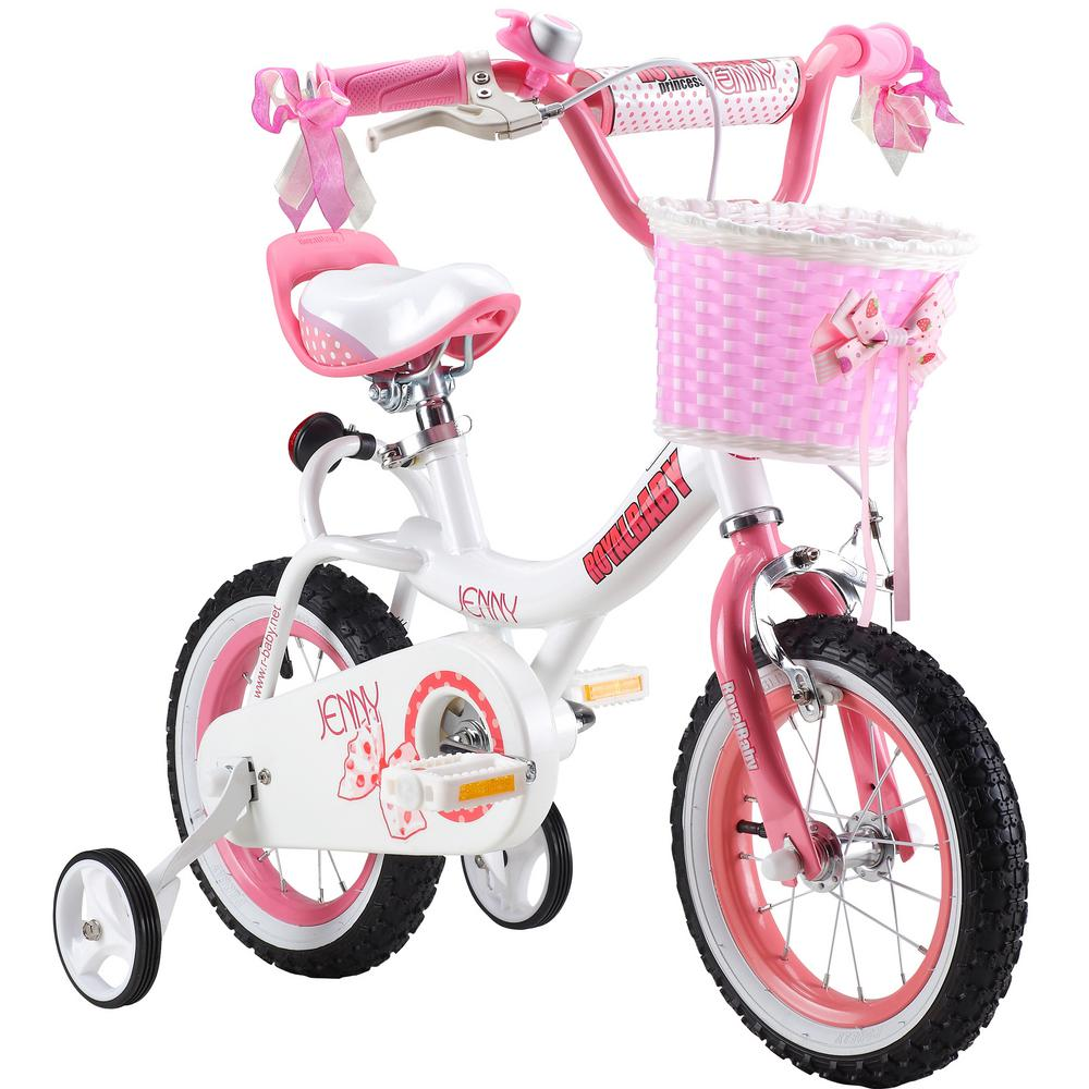 16 in. Jenny Princess Pink Girl's Bike with Training Whee...