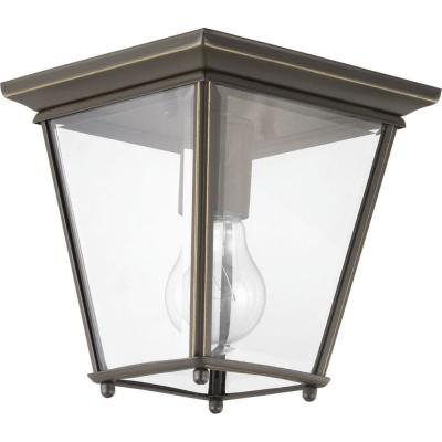 Burlington 1-Light Antique Bronze Outdoor Flush Mount