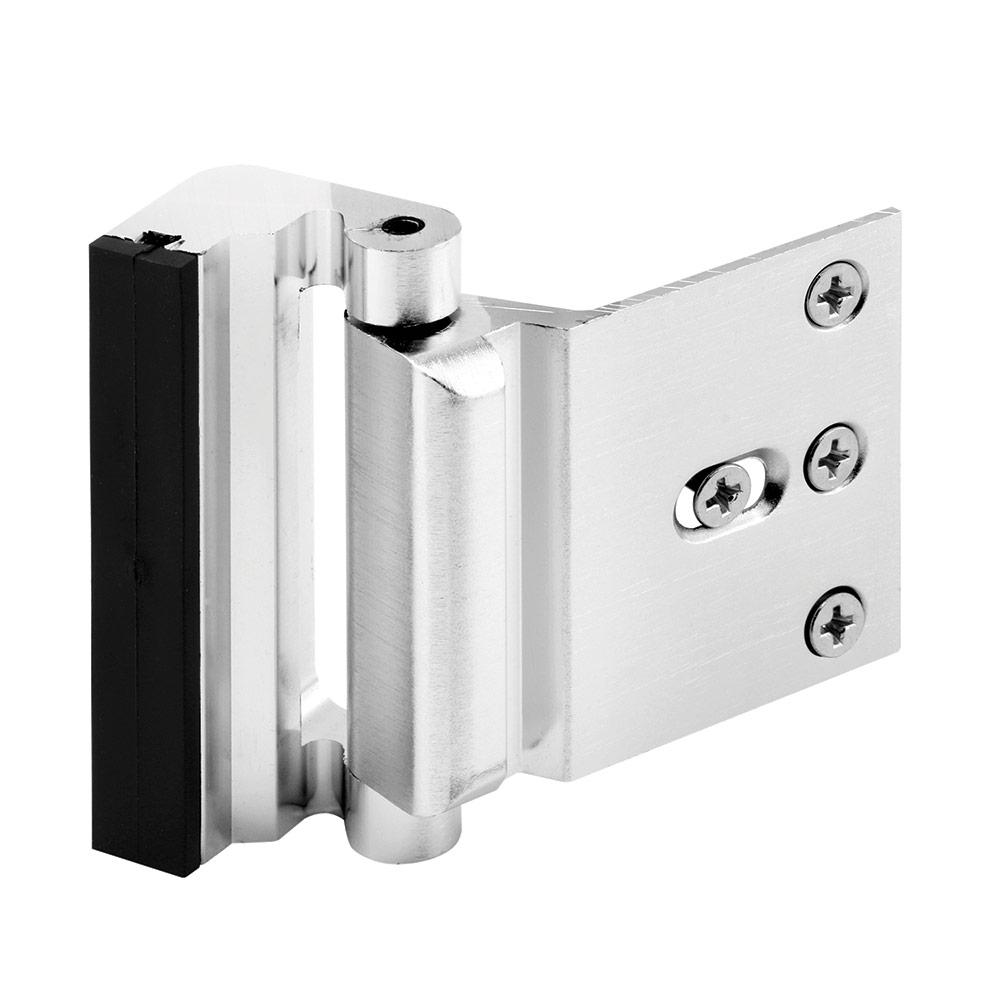 3 in. Stop Brushed Chrome Door Reinforcement Lock