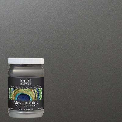 1 qt. Pewter Matte Metallic Interior Paint