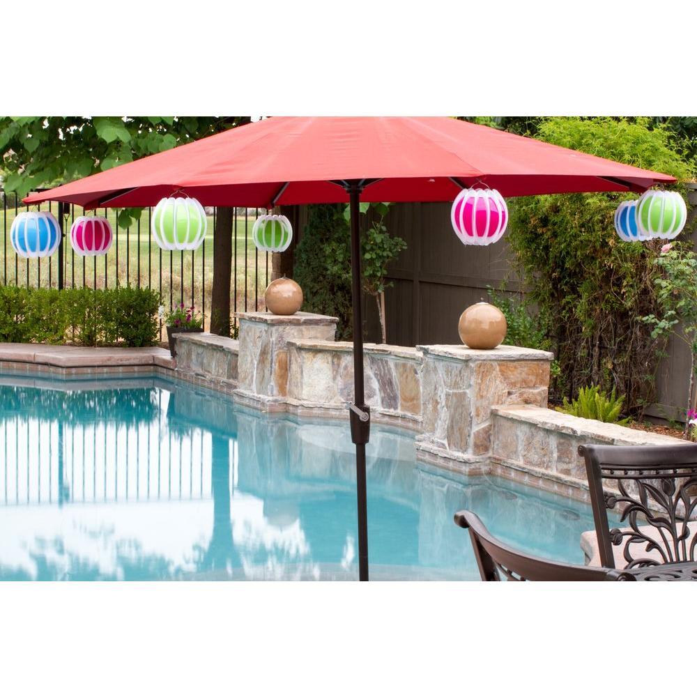Floating Solar Swimming Pool Lantern - 2 Pack in Pink