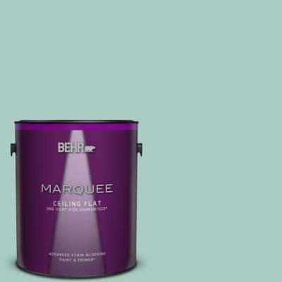 1 gal. #M440-3 Baby Aqua One-Coat Hide Ceiling Flat Interior Paint and Primer in One