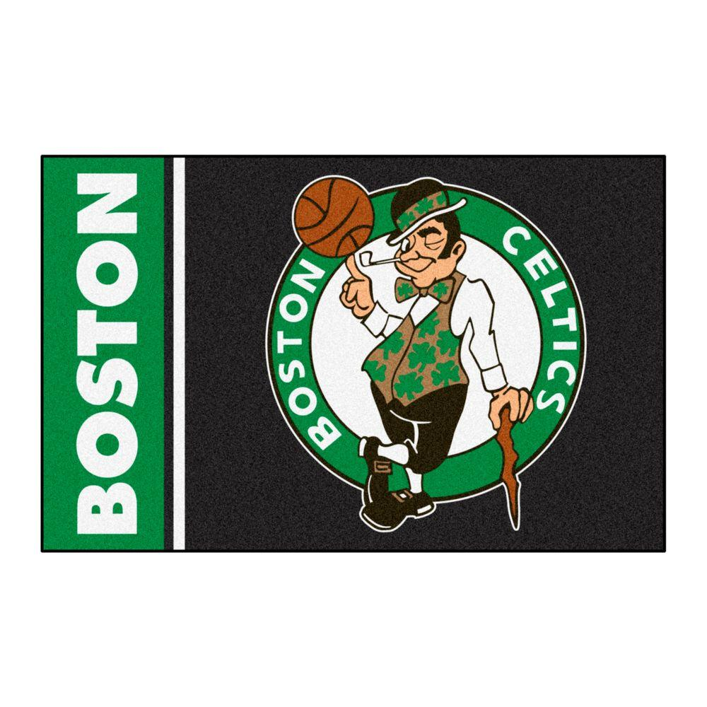 NBA Boston Celtics Black 1 ft. 7 in. x 2 ft.