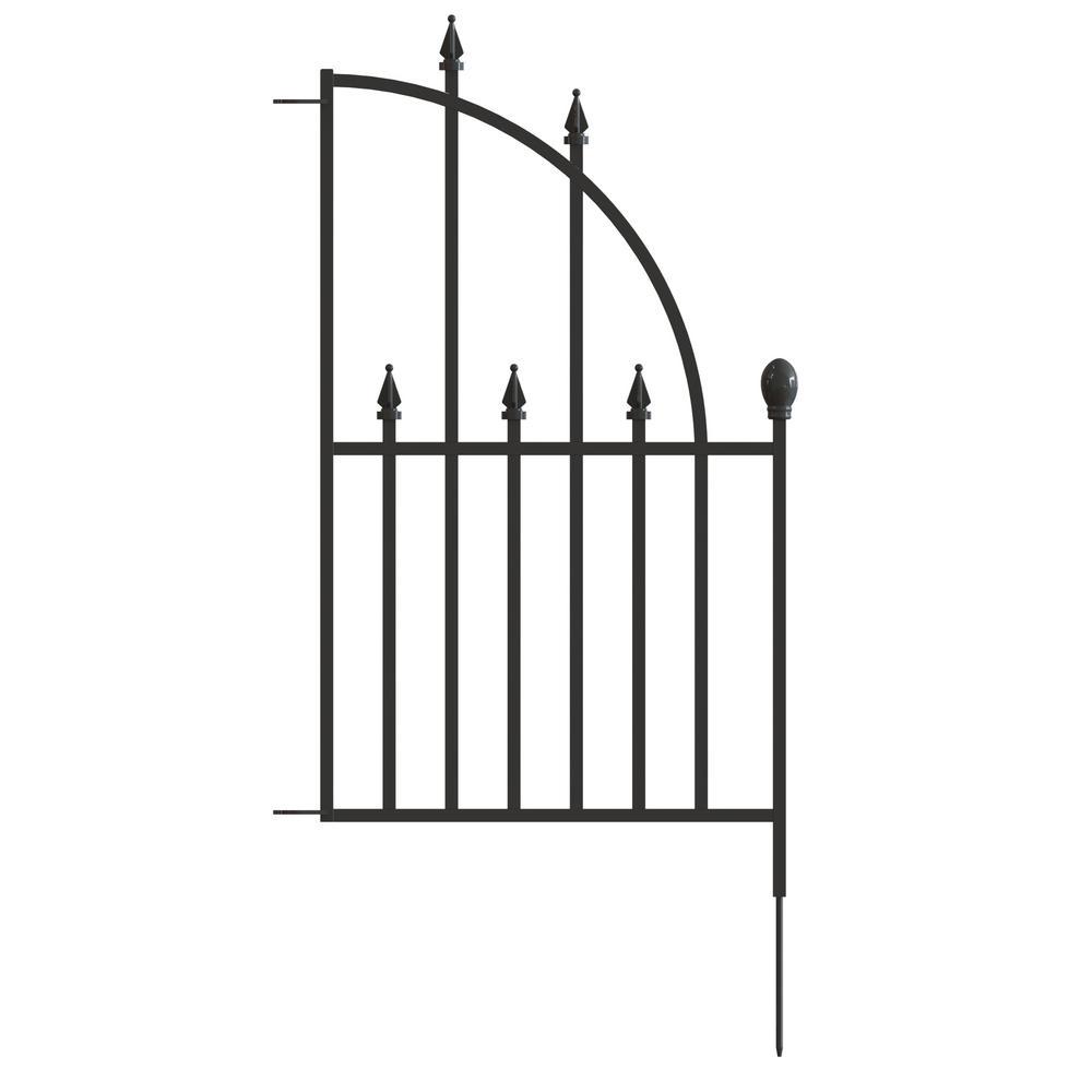 Metal Fence Panel End Unit