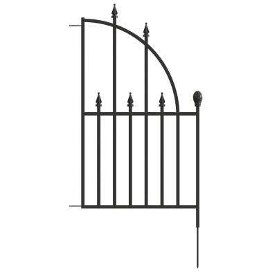 Empire 2.44 ft. x 1.46 ft. Metal Fence Panel End Unit