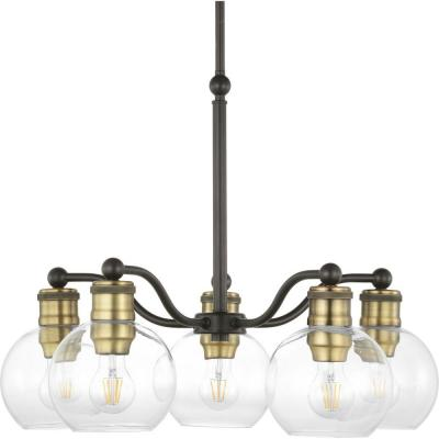 Progress Lighting Hansford 5-Light Antique Bronze Chandelier with Shade