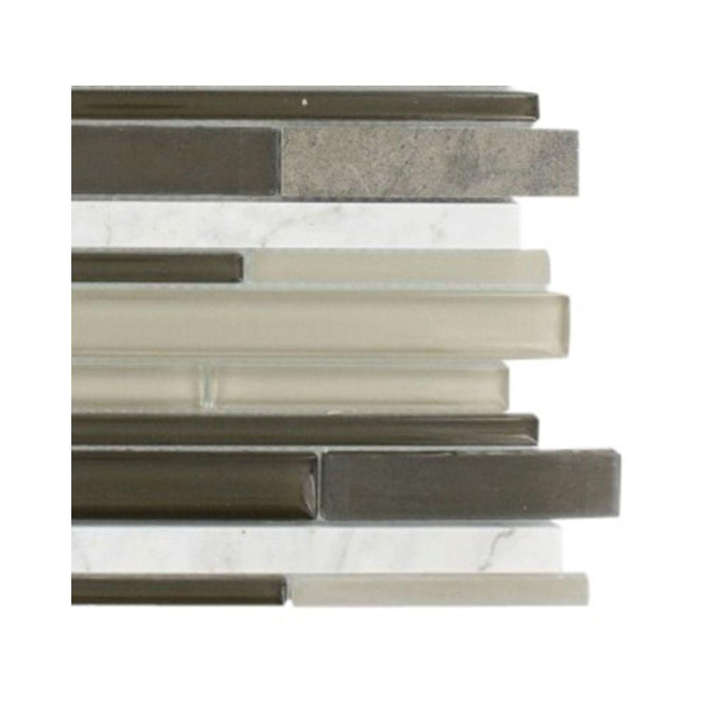 Splashback Tile Cleveland Taylor Random Brick 3 in. x 6 in. x 8 mm Mixed Materials Mosaic Floor and Wall Tile Sample