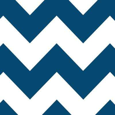 4 ft. x 8 ft. Laminate Sheet in Moody Blue Chevron with Virtual Design Matte Finish