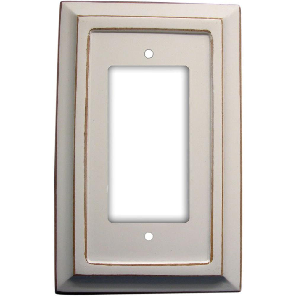 Amerelle Savannah 1 Decora Wall Plate 4040rdw The Home Depot