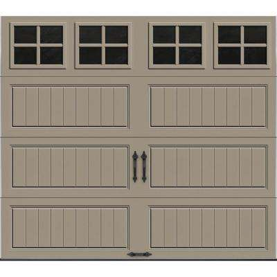 Gallery Collection 8 ft. x 7 ft. 18.4 R-Value Intellicore Insulated Sandtone Garage Door with SQ22 Window